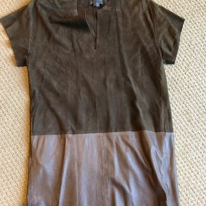 Vince leather and suede mini dress, size Small